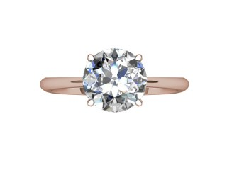Certificated Round Diamond Solitaire Engagement Ring in 18ct. Rose Gold - 9