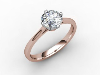 Certificated Round Diamond Solitaire Engagement Ring in 18ct. Rose Gold - 12