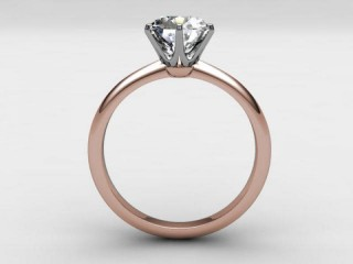 Certificated Round Diamond Solitaire Engagement Ring in 18ct. Rose Gold - 6