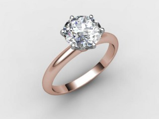 Certificated Round Diamond Solitaire Engagement Ring in 18ct. Rose Gold - 15