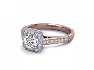 Certificated Round Diamond in 18ct. Rose Gold-01-0400-8218