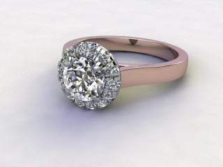 Certificated Round Diamond in 18ct. Rose Gold-01-0400-8943
