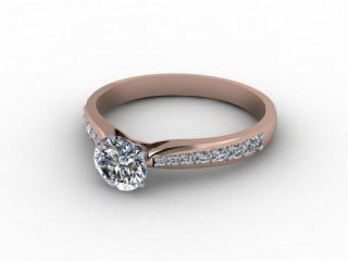 Certificated Round Diamond in 18ct. Rose Gold-01-0400-9205