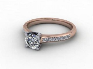 Certificated Round Diamond in 18ct. Rose Gold-01-0400-9207