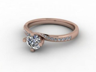 Certificated Round Diamond in 18ct. Rose Gold-01-0400-9212