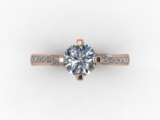 Certificated Round Diamond in 18ct. Rose Gold - 9