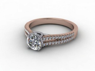 Certificated Round Diamond in 18ct. Rose Gold-01-0400-9236