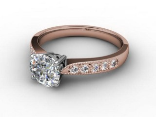 Certificated Round Diamond in 18ct. Rose Gold-01-0410-5177