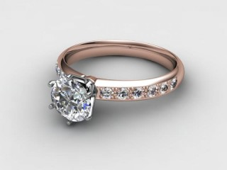 Certificated Round Diamond in 18ct. Rose Gold-01-0412-6165