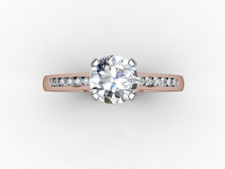Certificated Round Diamond in 18ct. Rose Gold - 12