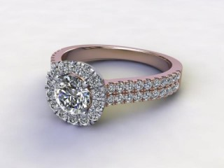 Certificated Round Diamond in 18ct. Rose Gold-01-0454-8955