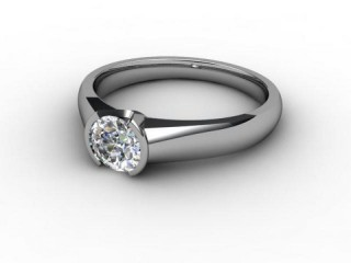 Certificated Round Diamond Solitaire Engagement Ring in 18ct. White Gold-01-0500-2222