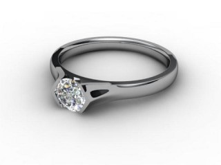 Certificated Round Diamond Solitaire Engagement Ring in 18ct. White Gold-01-0500-2958