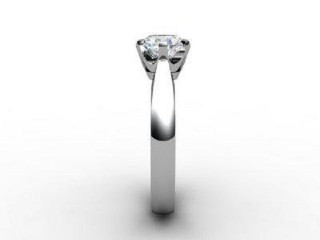 Certificated Round Diamond Solitaire Engagement Ring in 18ct. White Gold - 6