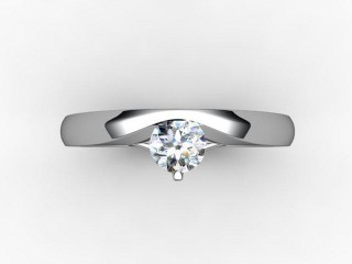 Certificated Round Diamond Solitaire Engagement Ring in 18ct. White Gold - 9