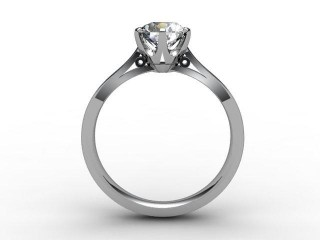 Certificated Round Diamond Solitaire Engagement Ring in 18ct. White Gold - 3