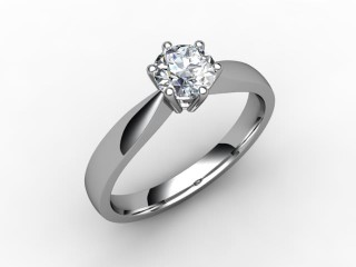 Certificated Round Diamond Solitaire Engagement Ring in 18ct. White Gold - 15