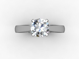 Certificated Round Diamond Solitaire Engagement Ring in 18ct. White Gold - 12