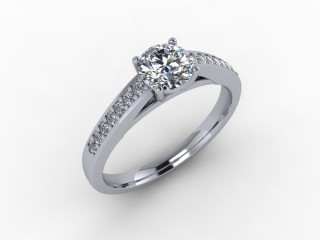 Certificated Round Diamond in 18ct. White Gold - 12