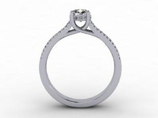 Certificated Round Diamond in 18ct. White Gold - 3