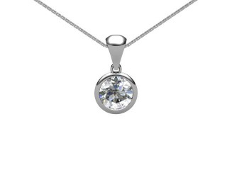 Certified Round Diamond Pendant-01-05001