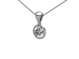 Certified Round Diamond Pendant - 3