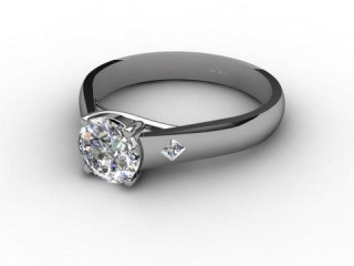 Certificated Round Diamond in 18ct. White Gold-01-0502-6150