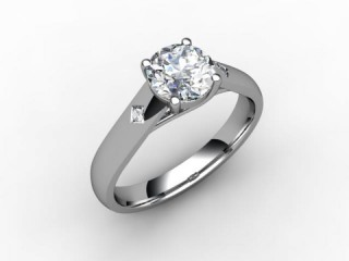 Certificated Round Diamond in 18ct. White Gold - 15