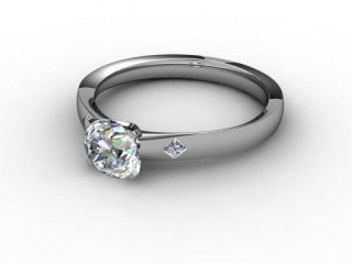 Certificated Round Diamond in 18ct. White Gold-01-0502-6151