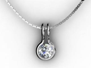 Designer Pendant,  18ct White Gold - Round-01-05135