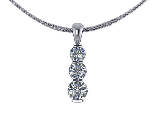 Designer Diamond Pendant and Chain,  18ct. White Gold