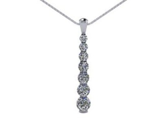 Designer Diamond Pendant and Chain,  18ct. White Gold-01-05143