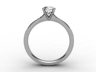 Certificated Round Diamond in 18ct. White Gold - 6