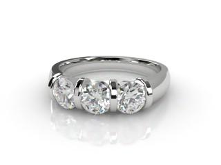 Trilogy 18ct. White Gold Round Brilliant-Cut Diamond