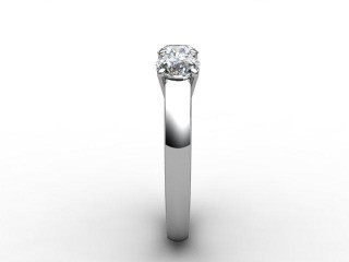 Trilogy 18ct. White Gold Round Brilliant-Cut Diamond - 9