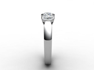 Trilogy 18ct. White Gold Round Brilliant-Cut Diamond - 9