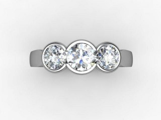 Trilogy 18ct. White Gold Round Brilliant-Cut Diamond - 12