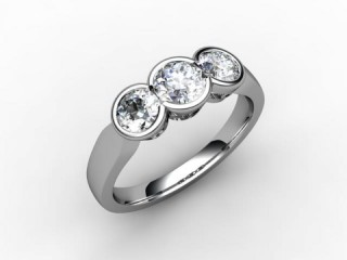 Trilogy 18ct. White Gold Round Brilliant-Cut Diamond - 15
