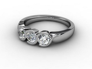 Trilogy 18ct. White Gold Round Brilliant-Cut Diamond-01-0533-1011