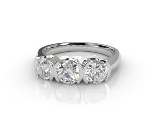 Trilogy 18ct. White Gold Round Brilliant-Cut Diamond-01-0533-1014