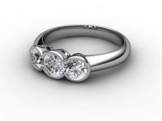 Trilogy 18ct. White Gold Round Brilliant-Cut Diamond-01-0533-1020
