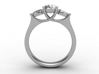 Trilogy 18ct. White Gold Round & Pearshape Diamond - 6