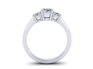 Trilogy 18ct. White Gold Round Brilliant-Cut Diamond - 6