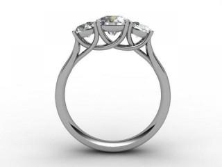 Trilogy 18ct. White Gold Round Brilliant-Cut Diamond - 6