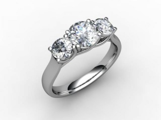 Trilogy 18ct. White Gold Round Brilliant-Cut Diamond - 15