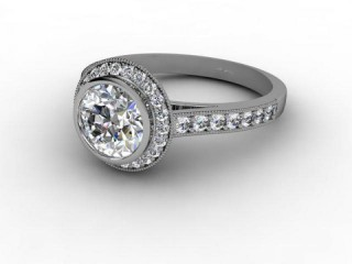 Certificated Round Diamond in 18ct. White Gold-01-0537-8017