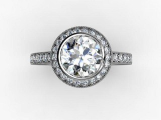 Certificated Round Diamond in 18ct. White Gold - 9