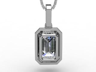 1.38cts. Certified Emerald-Cut Diamond Halo Pendant & Chain
