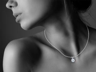 Certified Round Diamond Pendant - 12
