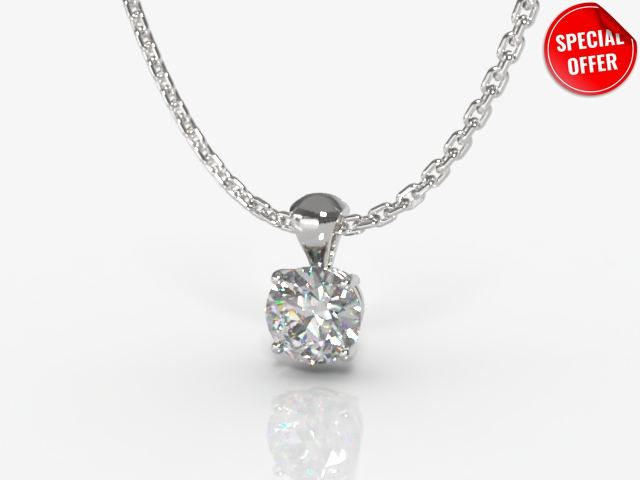 Certified Round Diamond Pendant - Main Picture